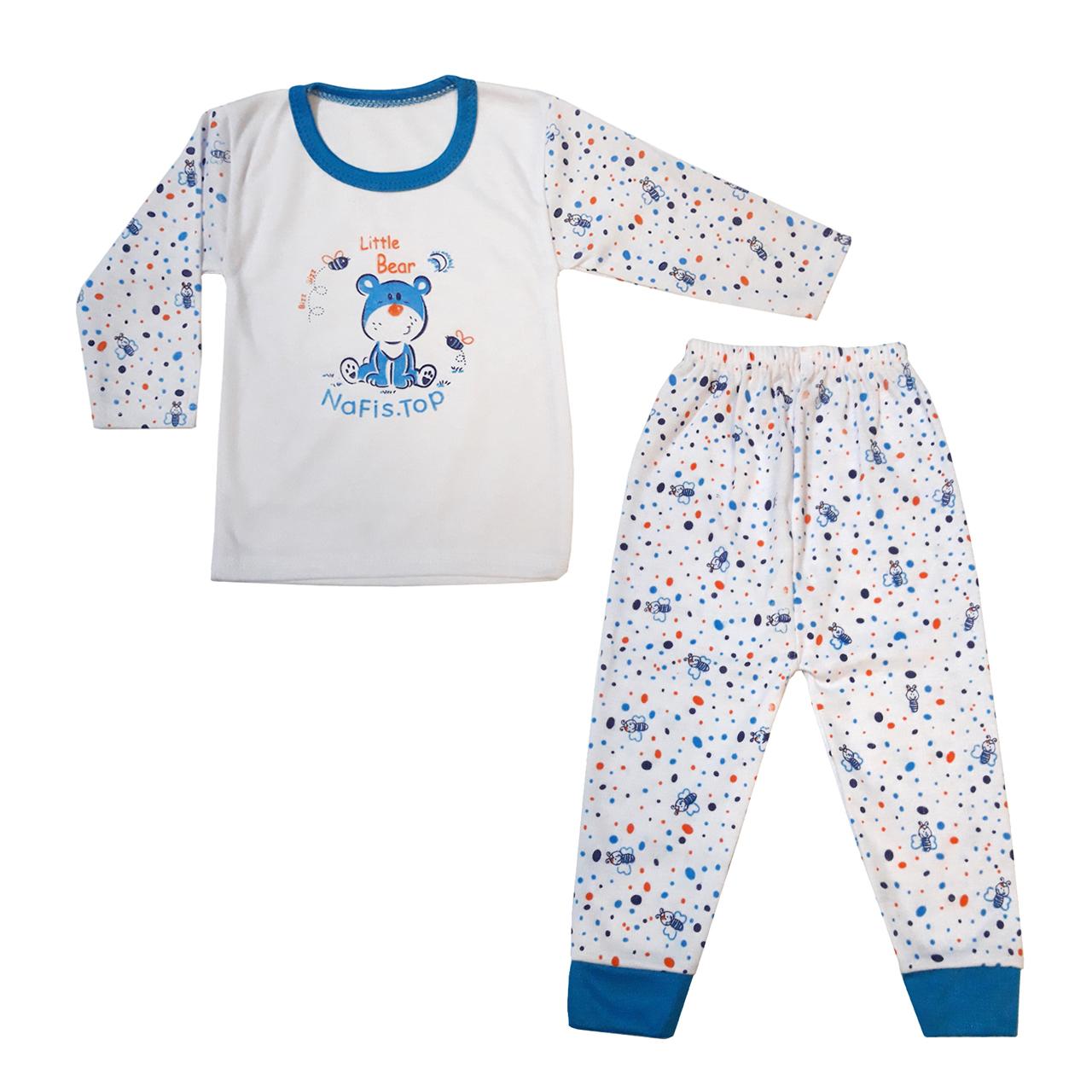 ست تی شرت و شلوار  نوزادی مدل Little Bear کد BL0