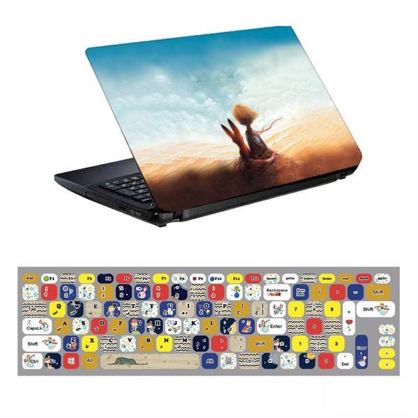 استیکر لپ تاپ طرح شازده کوچولو کد 0909-98 مناسب برای لپ تاپ 15.6 اینچ به همراه برچسب حروف فارسی کیبورد