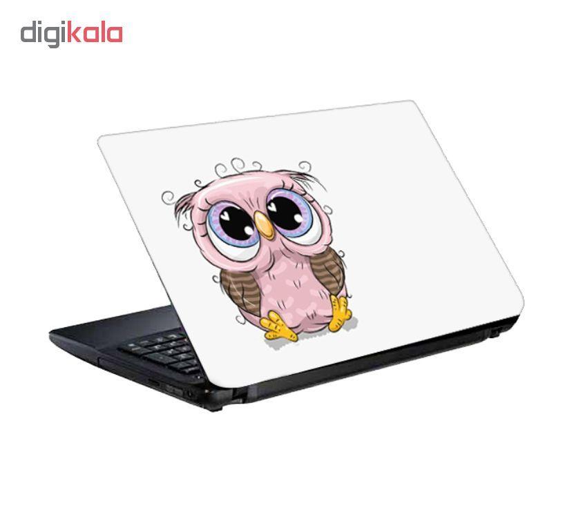 استیکر لپ تاپ طرح جغد کد 0909-98 مناسب برای لپ تاپ 15.6 اینچ به همراه برچسب حروف فارسی کیبورد main 1 3