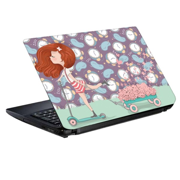 استیکر لپ تاپ طرح دختر باغبان کد 0908-98 مناسب برای لپ تاپ 15.6 اینچ