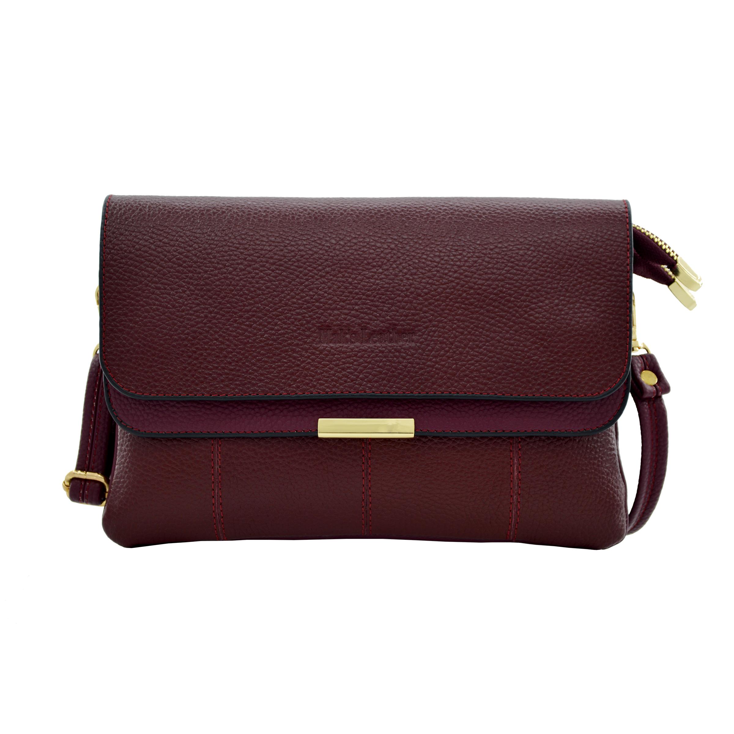 کیف دوشی زنانه چرم مکس مدل آلدورا 10405