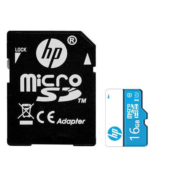 کارت حافظه microSDHC اچ پی  مدل mi200  کلاس 10 استاندارد UHS-I U1 سرعت 65MBps ظرفیت 16 گیگابایت به همراه آداپتور SD