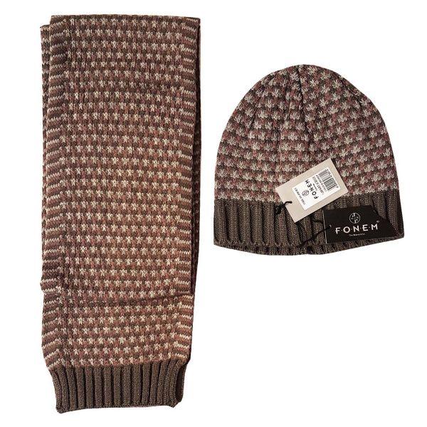 ست کلاه و شال گردن زنانه فونم کد K105