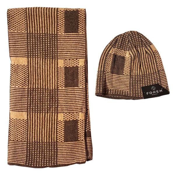 ست کلاه و شال گردن زنانه فونم کد K101