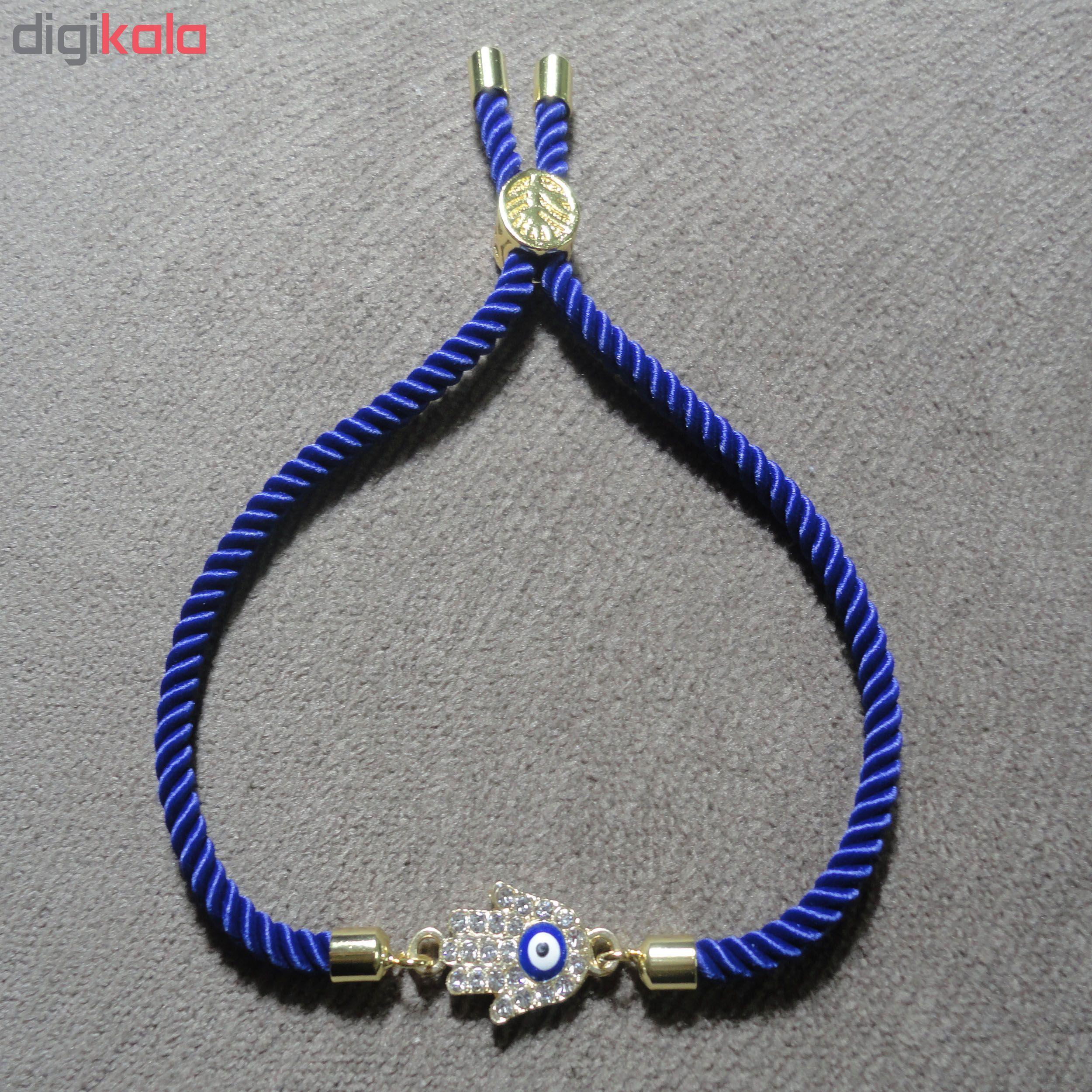 دستبند زنانه طرح چشم نظر کد 10 main 1 3