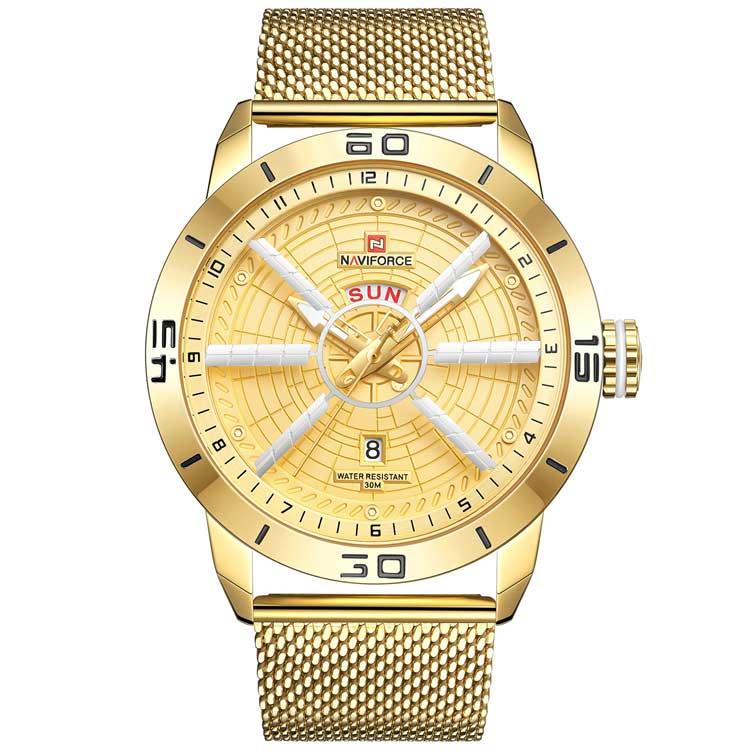 کد تخفیف                                      ساعت مچی عقربه ای مردانه نیوی فورس کد NF9155M