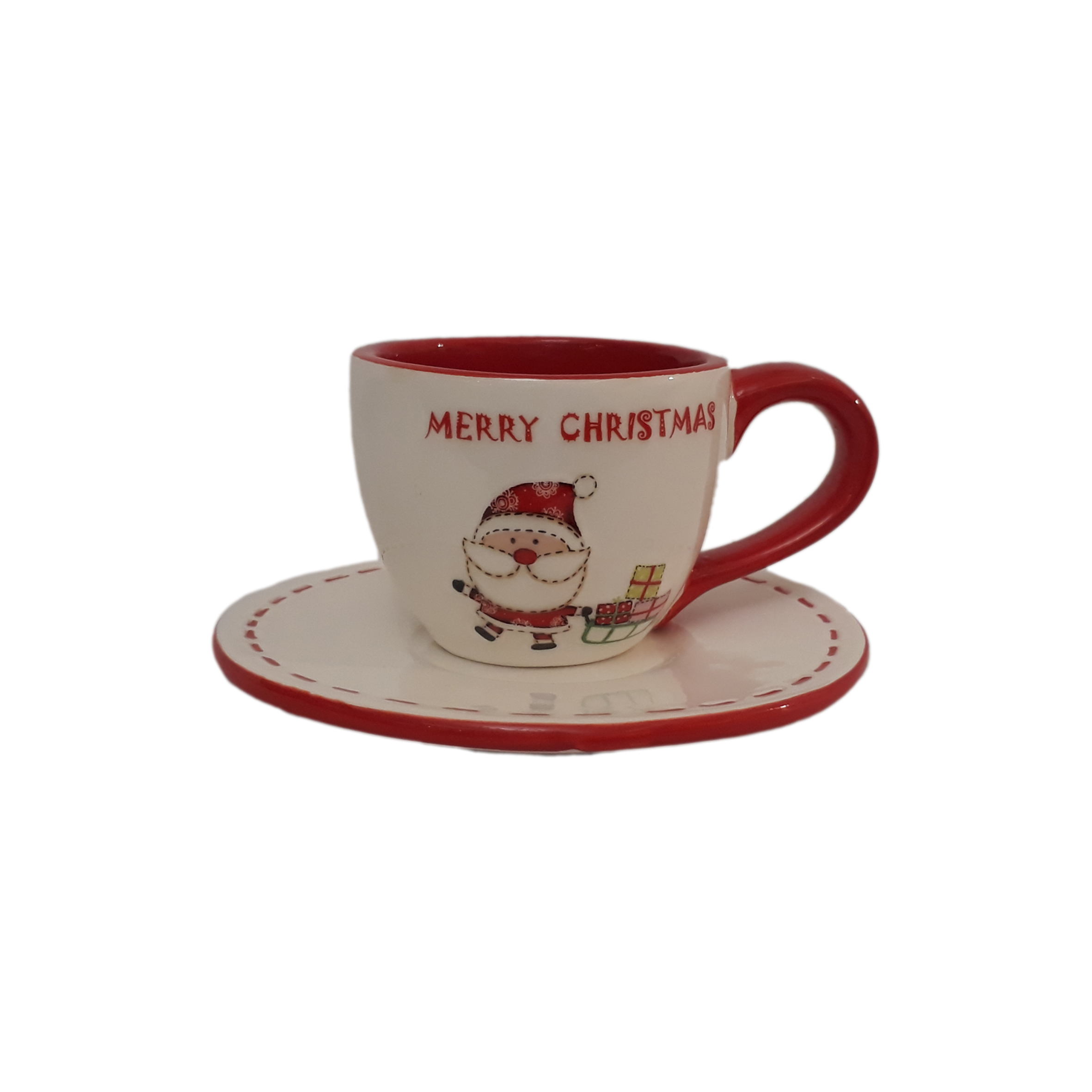 فنجان و نعلبکی طرح کریسمس مدل CH5019