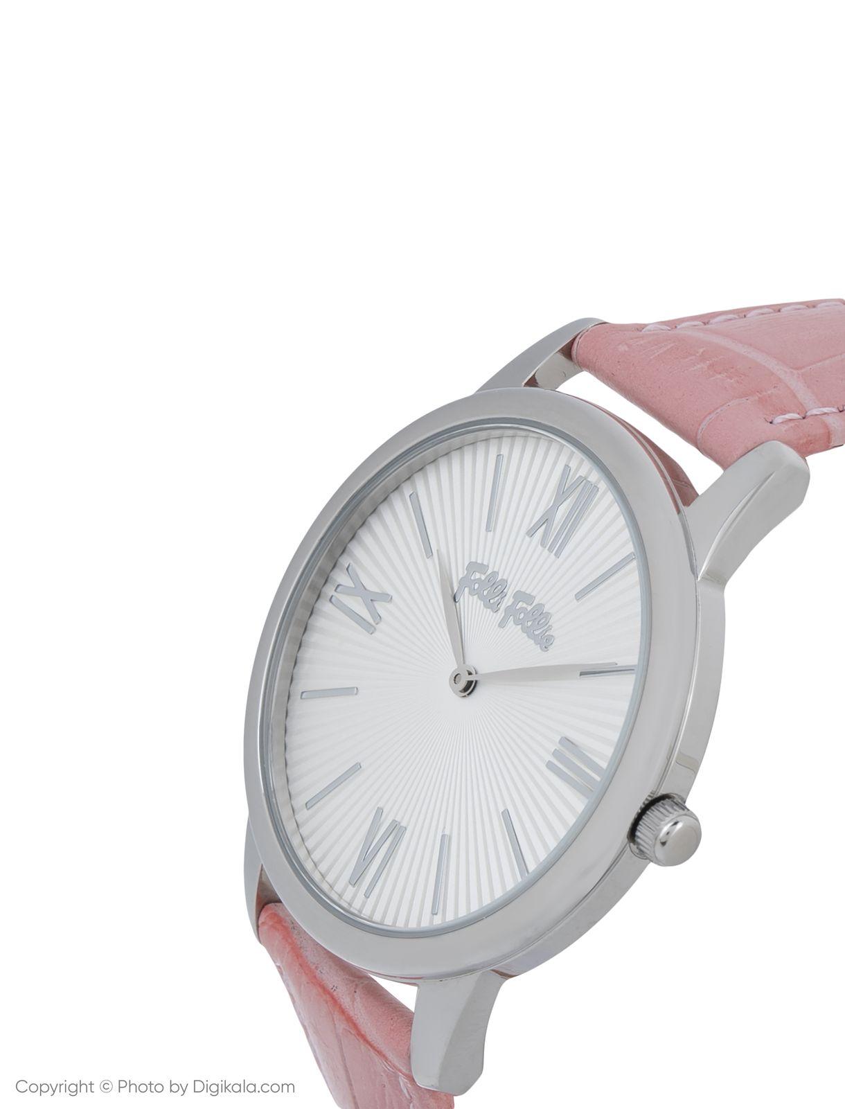 ساعت مچی عقربه ای زنانه فولی فولیه مدل WF15T033SPW-PI (بدون جعبه اورجینال)