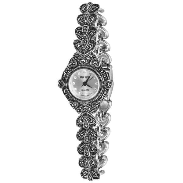 ساعت مچی عقربه ای نقره زنانه سما  کد 10040017