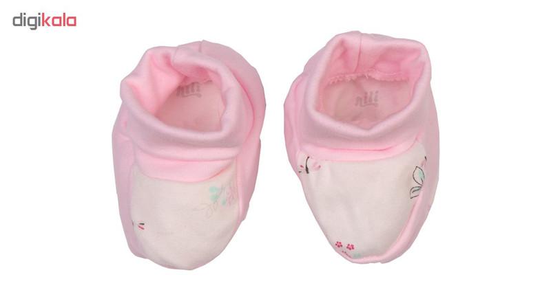 پاپوش نوزادی نیلی مدل لیانا کد 08023