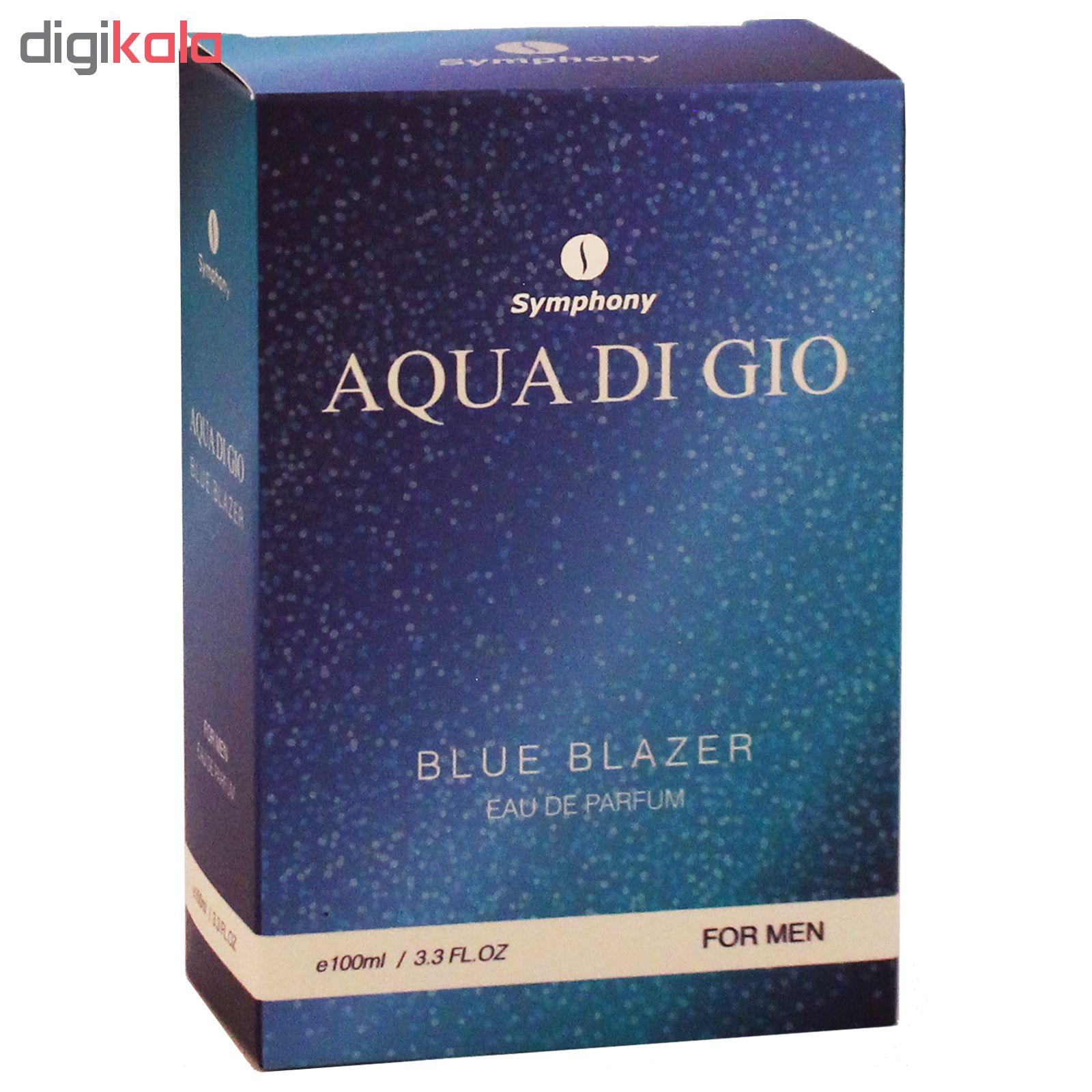 ادو پرفیوم مردانه سیمفونی مدل Aqua Di Gio حجم 100 میلی لیتر