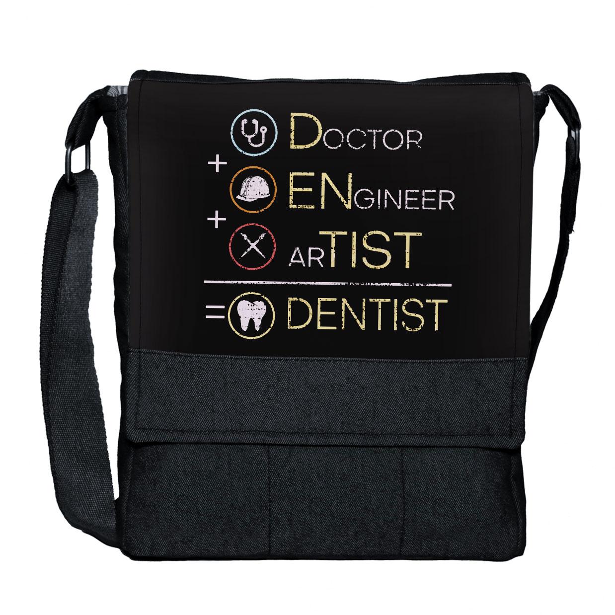 کیف دوشی گالری چی چاپ طرح دندانپزشکی کد 65819