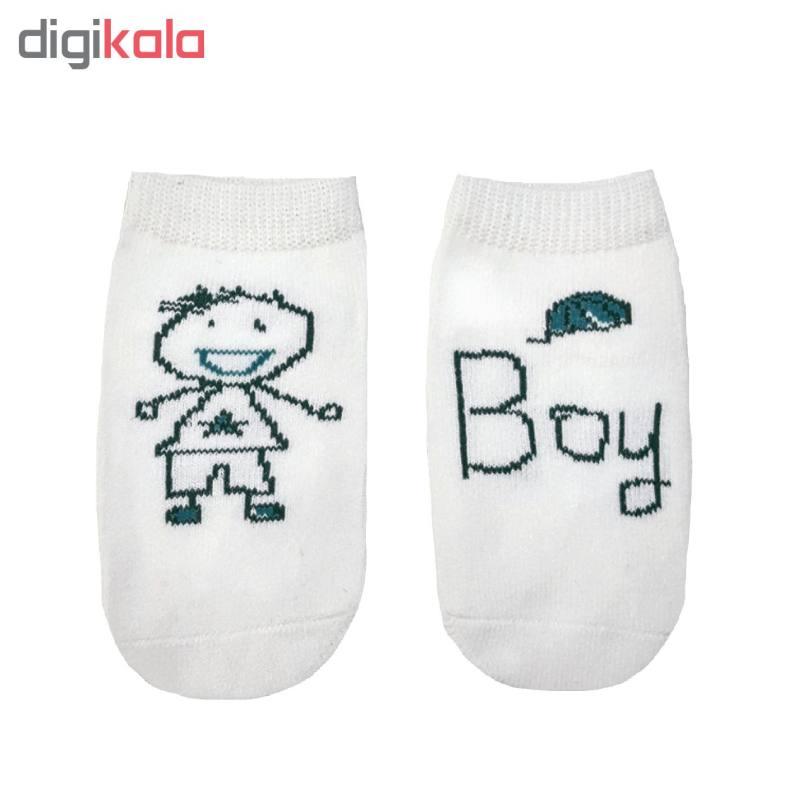 جوراب پسرانه طرح Boy کد FA44