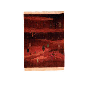 گبه دستبافت یک و نیم متری گالری نور کد H1949