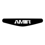 برچسب لایت بار دسته پلی استیشن 4 ونسونی طرح AMIR