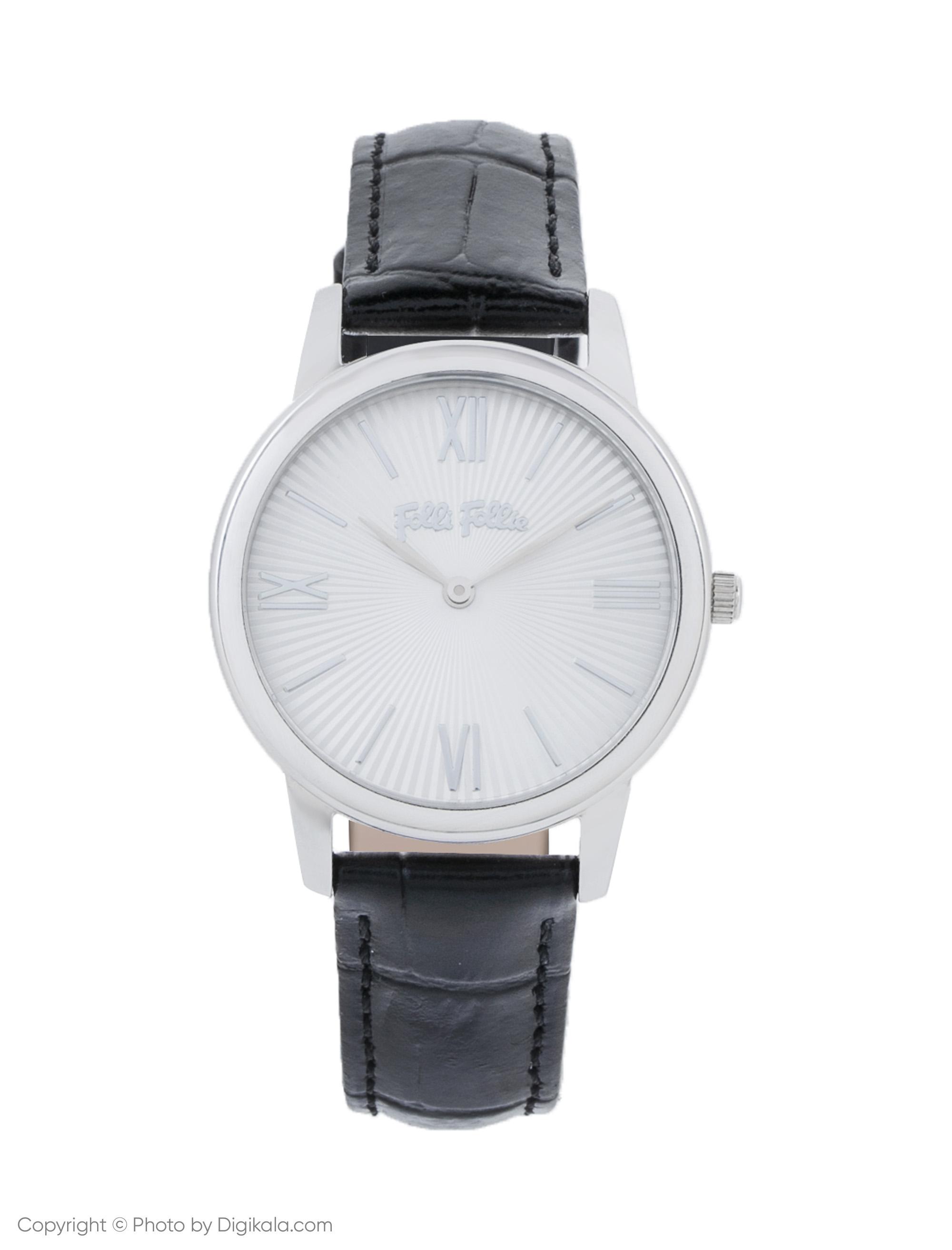 ساعت مچی عقربه ای زنانه فولی فولیه مدل WF15T032SPW-BK (بدون جعبه اورجینال)