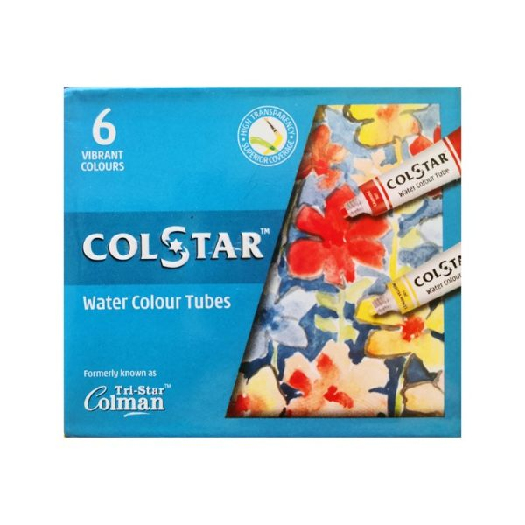 آبرنگ 6 رنگ کل استار  کد Cl05