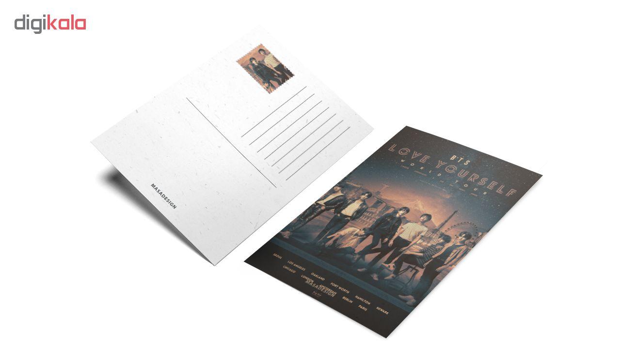 کارت پستال ماسا دیزاین طرح bts کد postv36