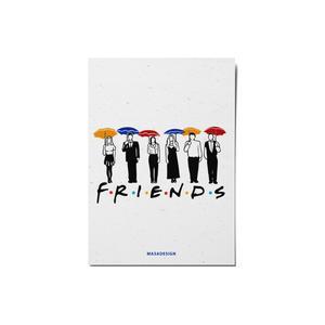 کارت پستال ماسا دیزاین طرح friends کد postv41