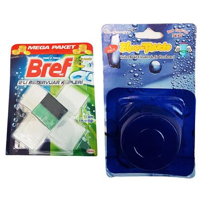 قرص ضدعفونی کننده توالت فرنگی بلوتاچ مدل AB001 به همراه خوشبو کننده توالت فرنگی