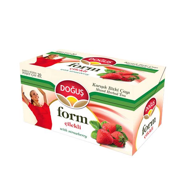 دمنوش طعم توت فرنگی دوغوش مدل Form بسته 20 عددی