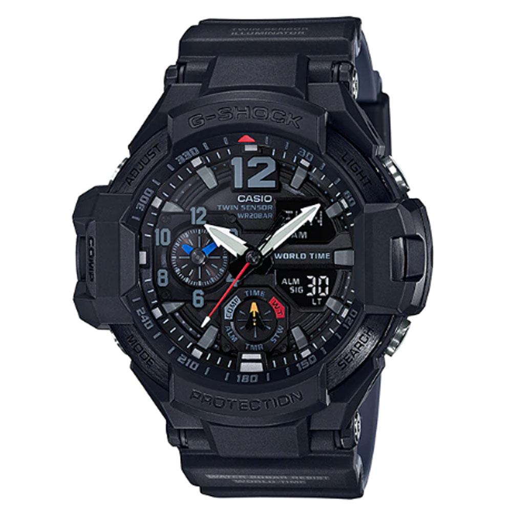 کد تخفیف                                      ساعت مچی عقربه ای مردانه کاسیو مدل جی شاک کد GA-1100-1A1
