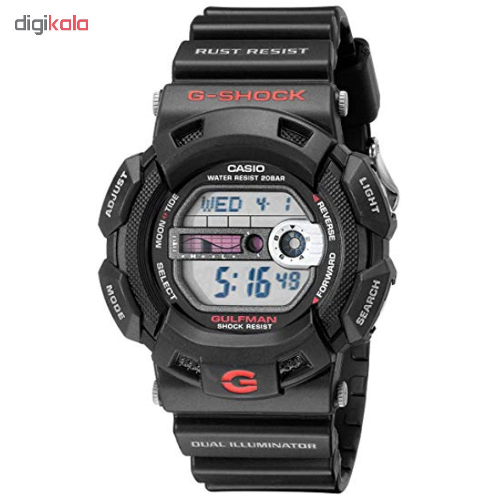 کد تخفیف                                      ساعت مچی دیجیتال مردانه کاسیو مدل جی شاک کد g-9100-1