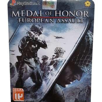 بازی medal of honor european assault مخصوص PS2 نشر لوح زرین