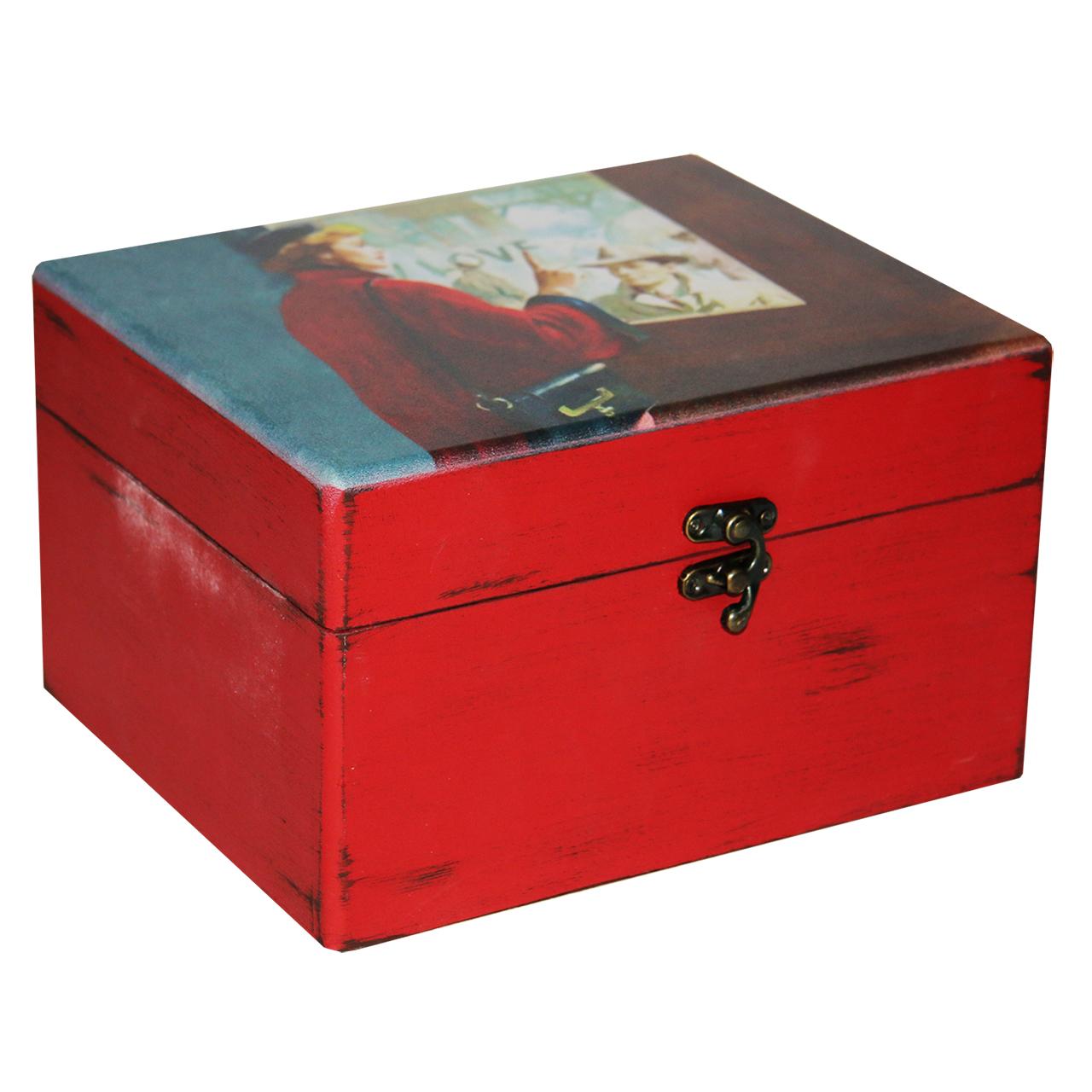 جعبه هدیه چوبی طرح Love کد 02