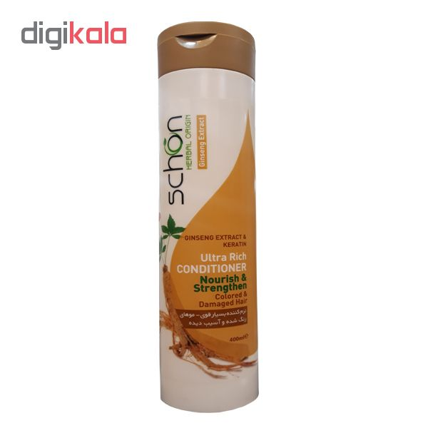 نرم کننده مو شون مدل Ginseng Extract & keratin حجم 400 میلی لیتر