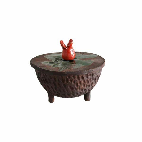 عکس شکلات خوری سفالی طرح انار مدل 0019