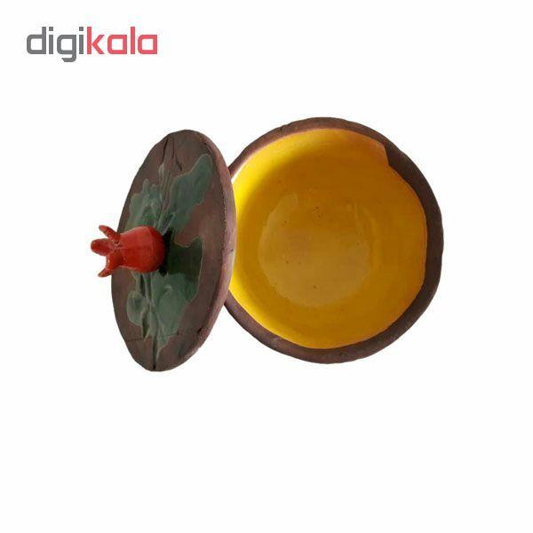 شکلات خوری سفالی طرح انار مدل 0019