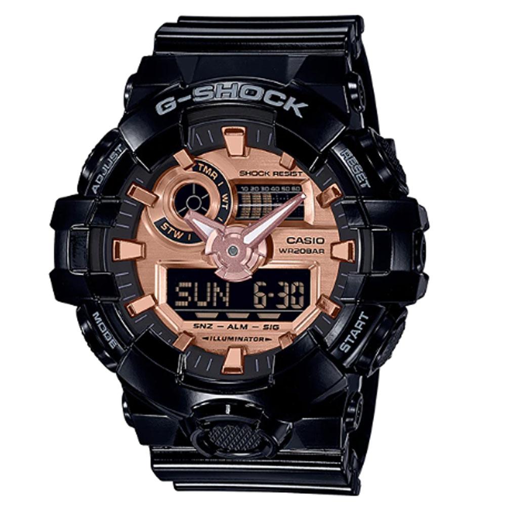 کد تخفیف                                      ساعت مچی عقربه ای مردانه کاسیو مدل جی شاک کد GA-700MMC-1A