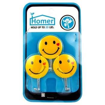 آویز حوله هومر طرح لبخند بسته سه عددی