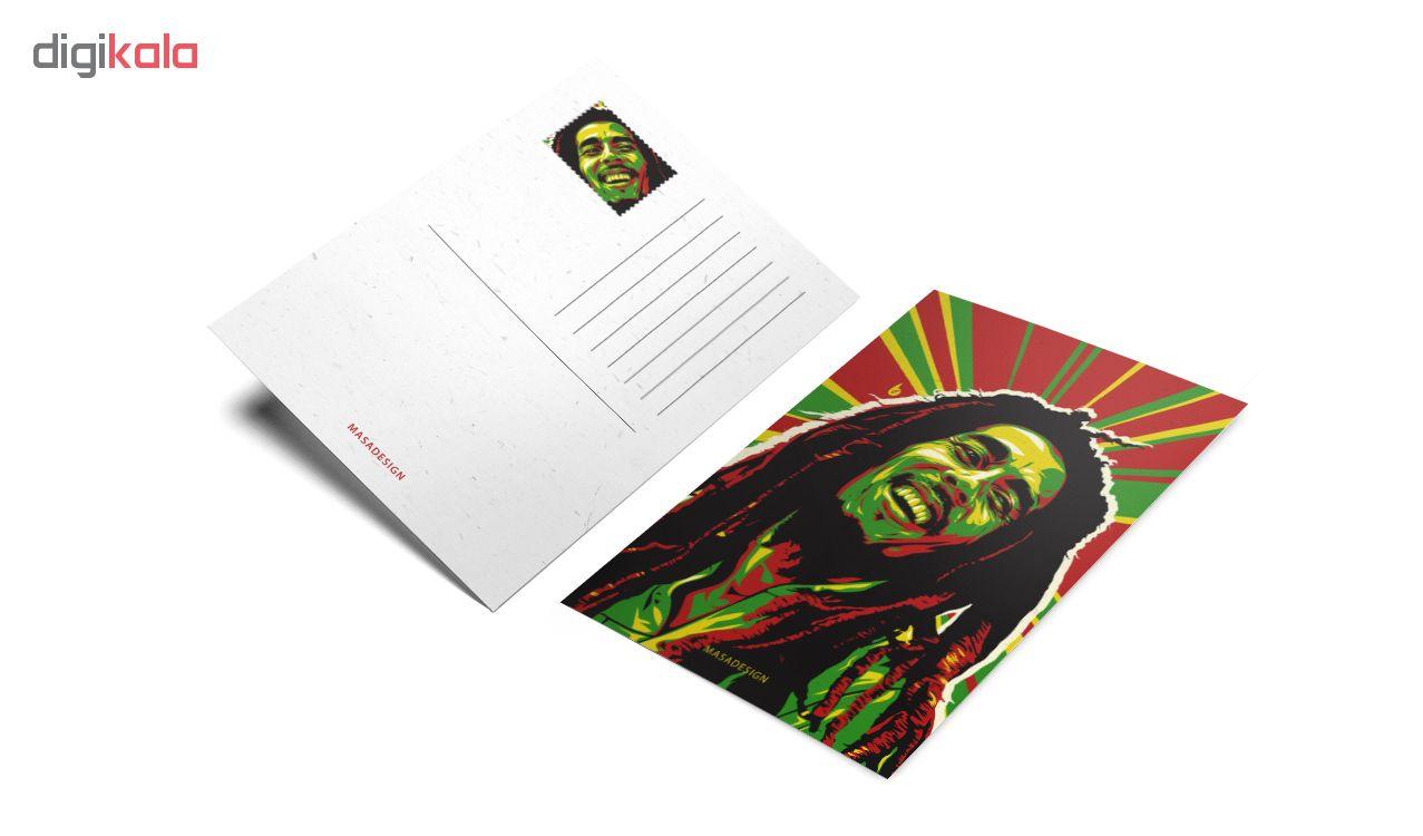 کارت پستال ماسا دیزاین طرح باب مارلی کد postv70