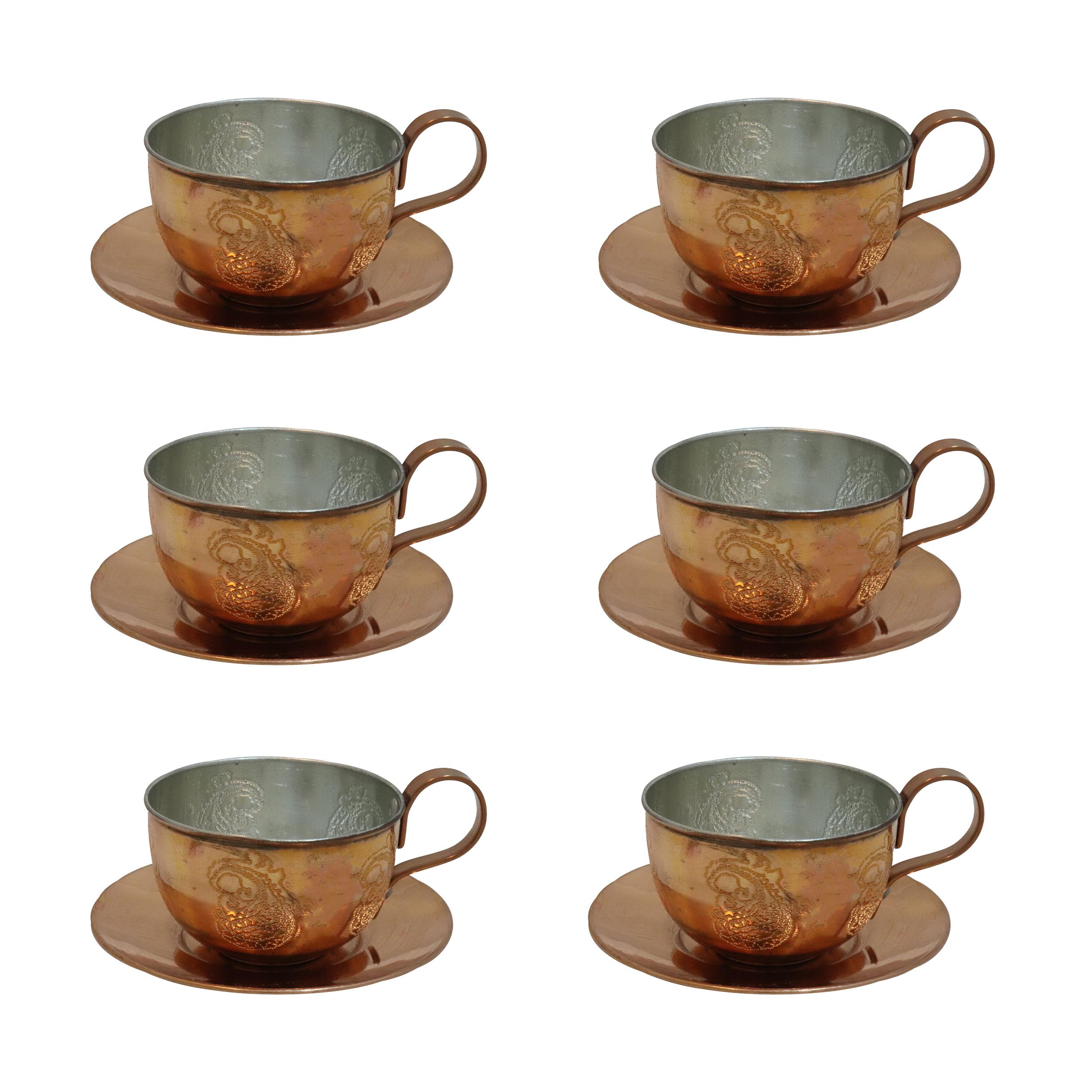 عکس ست چای خوری مسی مدل IRT کد 2 مجموعه 6 عددی