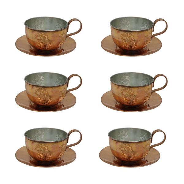 ست چای خوری مسی مدل IRT کد 2 مجموعه 6 عددی