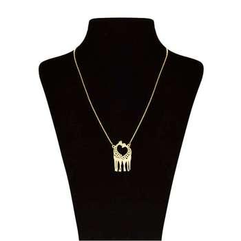 گردنبند طلا 18 عیار زنانه طرح زرافه کد UN0050
