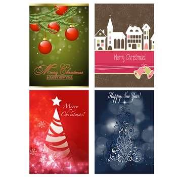 کارت پستال طرح کریسمس کد 4big مجموعه 4 عددی