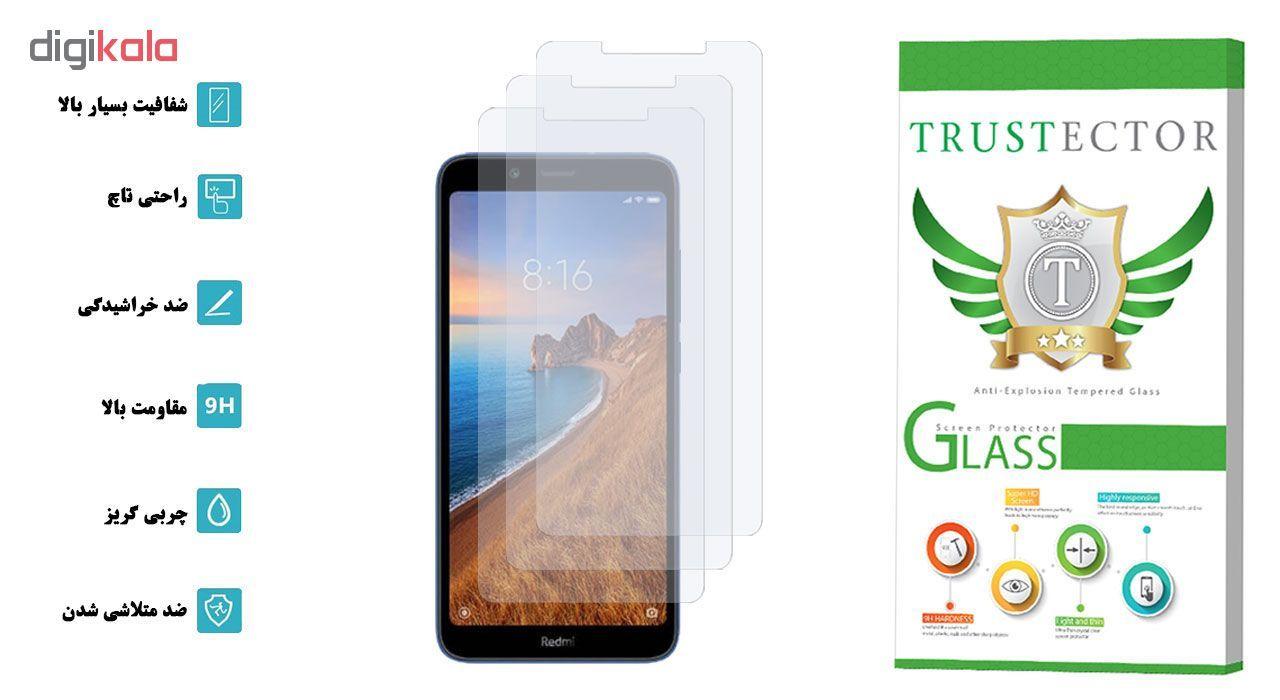محافظ صفحه نمایش تراستکتور مدل GLS مناسب برای گوشی موبایل شیائومی Redmi 7A بسته 3 عددی main 1 2