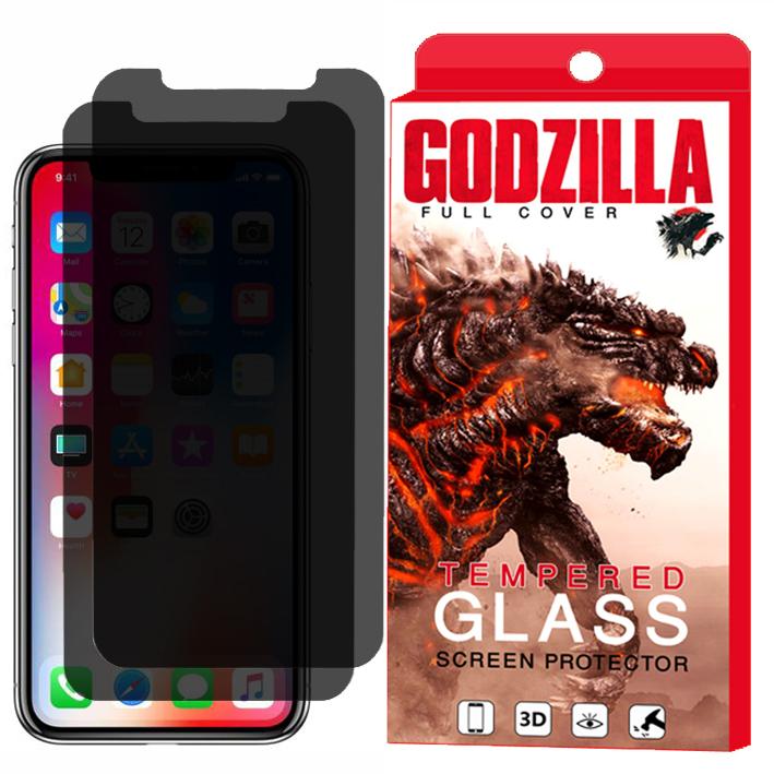 محافظ صفحه نمایش حریم شخصی گودزیلا مدل GGPS مناسب برای گوشی موبایل اپل iPhone XR بسته 2 عددی