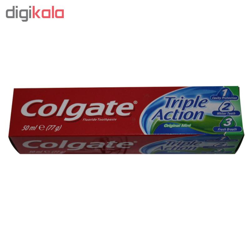 خمیر دندان کلگیت سری Original Mint مدل Triple Action حجم 50 میلی لیتر