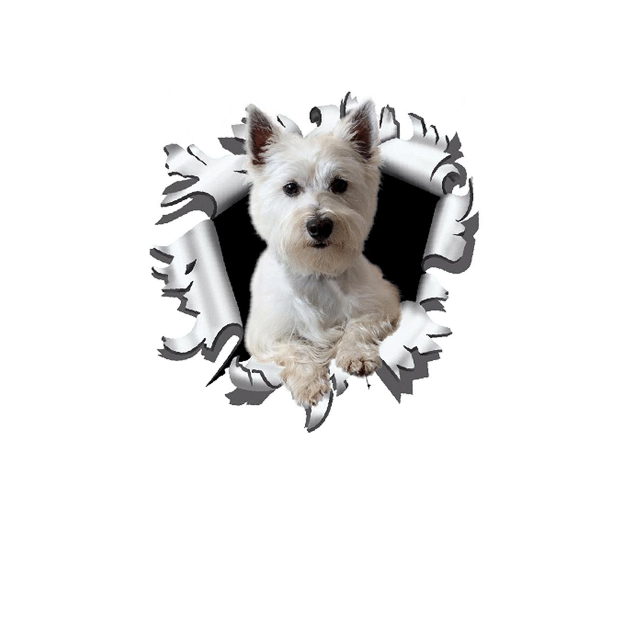 برچسب بدنه خودرو طرح سگ  کد D3