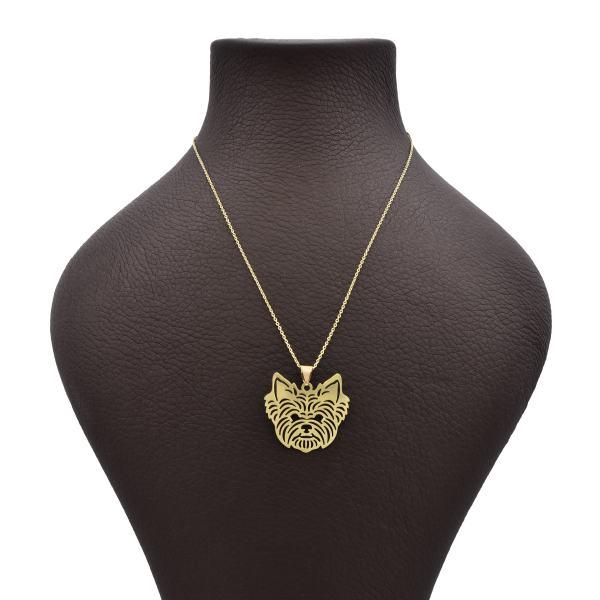 گردنبند طلا 18 عیار زنانه آمانژ طرح گربه کد 618D3066