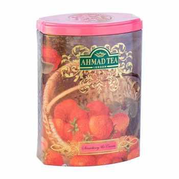 چای سیاه  توت فرنگی و خامه احمد مقدار 100 گرم