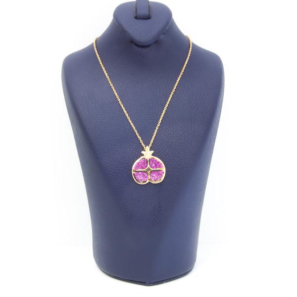 گردنبند طلا 18 عیار زنانه غزال طرح انار کد GGB037