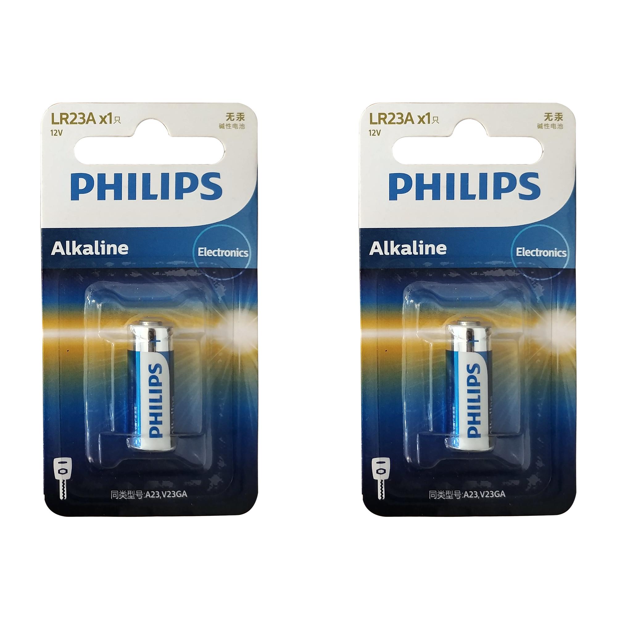 باتری 23A فیلیپس مدل LR23A1B بسته 2 عددی