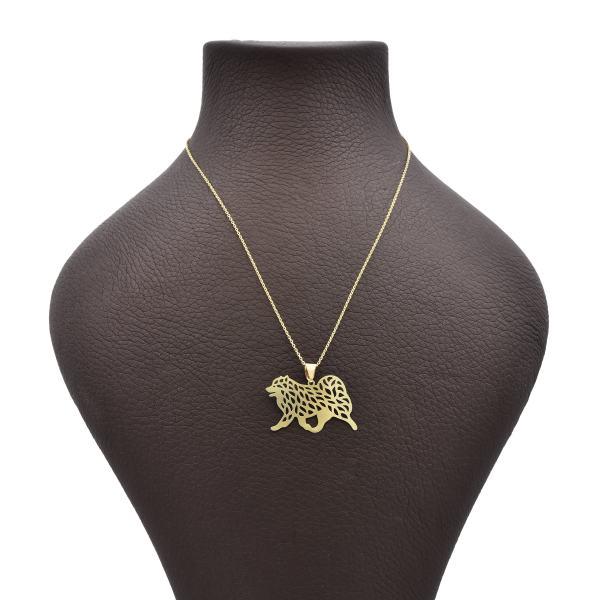 گردنبند طلا 18 عیار زنانه آمانژ طرح سگ کد 620D3071