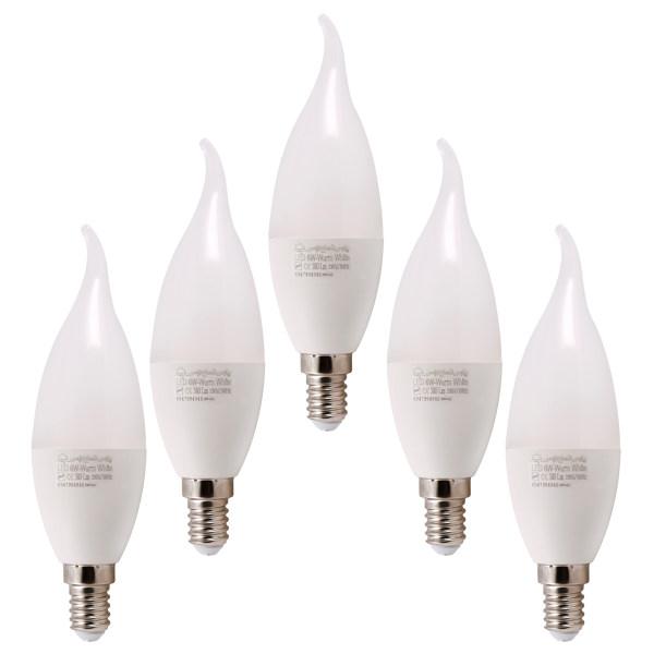 لامپ ال ای دی 6 وات پارس شعاع توس مدل AM-6W پایه E14 بسته 5 عددی