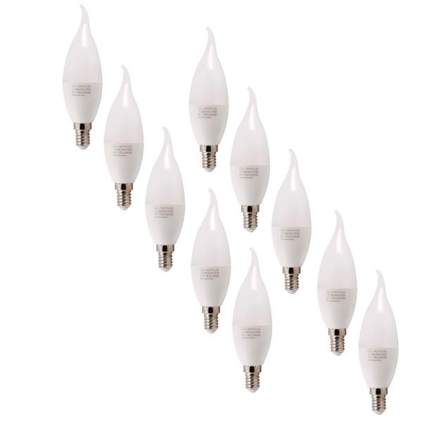 لامپ ال ای دی 6 وات پارس شعاع توس مدل AM-6W پایه E14 بسته 10 عددی